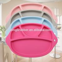 Buy cheap Water-proof Baby Silicone dinner plate One-piece Placemats f from wholesalers