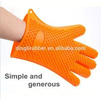 Buy cheap wholesale heat resistant Silicone oven mitt hand gloves for from wholesalers