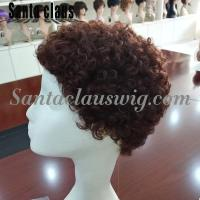 Buy cheap wholesale natural human hair kinky curly black peter wig for christmas from wholesalers