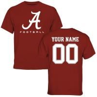 Buy cheap Men's Crimson Alabama Crimson Tide Personalized Football Logo T-Shirt from wholesalers