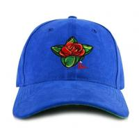 Buy cheap Custom Unique Popular Personalized Embroidered Suede 6 Panel Blue Men Baseball Caps Hats from wholesalers