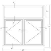 Buy cheap BD 60 In-swing casement window technical drawing from wholesalers