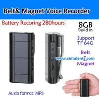 Buy cheap S111,8G Belt Voice Recorder, Build in Magnet,260hours Long time recording, MP3/192kbps, Play back from wholesalers