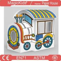 Buy cheap Paper Playhouse Cardboard Colour In Child's Locomotive House ,train house from wholesalers