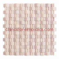 China 005 Series Chain MS 005R Natural Rose Red Marble Art Mosaic on sale
