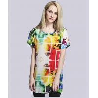 Buy cheap Clothing silk crepe de chine printed t shirt from wholesalers