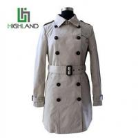 Buy cheap Classical Autumn Long Wind Coat For Women Double Breasted Coat With Waistband from wholesalers