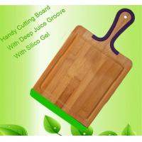Buy cheap Long silicone handle pizza board with groove from wholesalers
