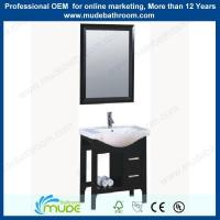 Buy cheap sliver mirror wooden frame construction free standing bathroom vanity from wholesalers