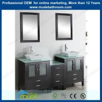 Buy cheap matt espresso two person wooden bathroom set from wholesalers