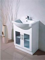 Buy cheap Austrialan white MDF floor standing bathroom cabinet vanity from wholesalers