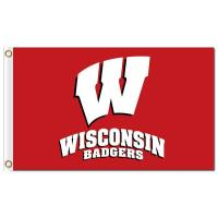 Buy cheap NCAA Wisconsin Badgers 3'x5' polyester flags from wholesalers