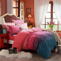 Buy cheap Blessed Rhyme Red Duvet Cover Set European Bedding Casual Bedding from wholesalers