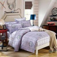 Buy cheap Champions Grey 100% Cotton 4 Pieces Bedding Set Duvet Cover Pillow Shams Fitted Sheet from wholesalers