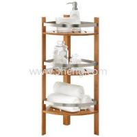 Buy cheap Hot Selling Furniture Bamboo Bathroom Corner Tower with 3 Shelves from wholesalers