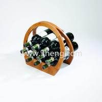 Buy cheap Eco-friendly Bamboo Space-saving Wine Rack from wholesalers