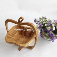 Buy cheap eco-friendly folding bamboo fruit basket from wholesalers