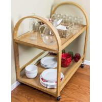 Buy cheap Bambo Kitchen Rolling Serving Cart For Outdoor Dining car from wholesalers