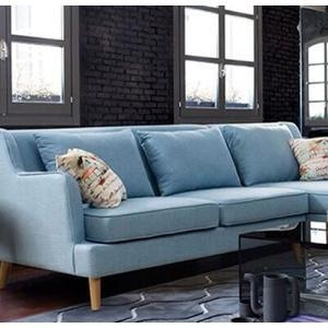 Buy cheap Linen Sofas Wooden Legs Linen Corner L-Shaped Sectional Sofa from wholesalers