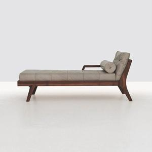 Buy cheap DayBed Contemporary Leather Solid Wood Living Room Daybed from wholesalers