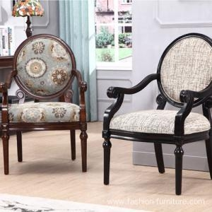 Quality Leisure Chairs Carved Upholstery Side Armchair For Living Room for sale