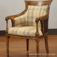 Buy cheap Leisure Chairs Rubber Carved High Back Lounge Armchair product