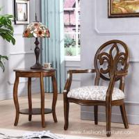 Buy cheap Leisure Chairs Fabric Upholstered Hand Carved Frame Arm Chair product