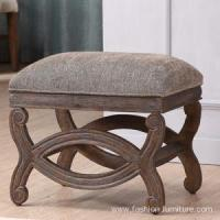 Buy cheap Ottoman & Stools Fabric Upholstered Ottoman Stool In Birch product