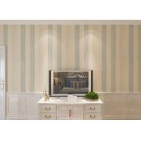 Buy cheap Modern Style Striped Wallpaper Waterproof Non-woven Materia from wholesalers