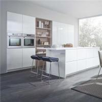 Buy cheap Latest White Lacquer Fitted Cabinet For Remodel Kitchen Designs from wholesalers