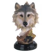 Buy cheap WOLF Wolf Head Collectible Wildlife Animal Figurine Statue from wholesalers