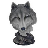 Buy cheap Pack Leader Wolf Head Bust Figurine ANIMAL ITEMS from wholesalers