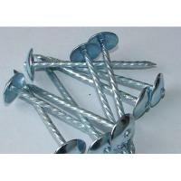 Buy cheap 0106 - Lm0106 Galvnzied umbrella head roofing nails twisted shank from wholesalers