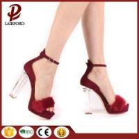 Buy cheap red color high heel girls sex sandals from wholesalers