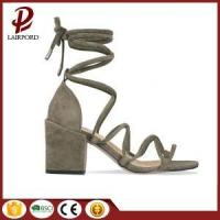 Buy cheap middle heel suede lace soft women sandals from wholesalers