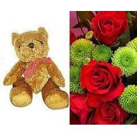 Buy cheap Flowers 12 Red Roses and Teddy Bear from wholesalers