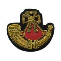 Buy cheap Badge Light Infantry Embroidered Bullion Blazer Badge Gold Army Military R1672 from wholesalers