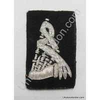 Buy cheap Badge Pipe and Drum Band Badge Silver on Black R1214 from wholesalers