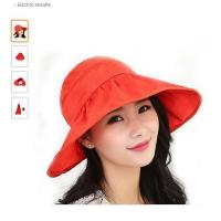 Buy cheap Visor Hats Wide Brim Thin Cap UV Protection Summer Sun Hats For Women from wholesalers