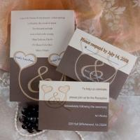 Buy cheap Two Intertwined Hearts Wedding Invitations INSH071 product