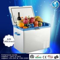 Buy cheap 40 Litre Battery Operated Mini Portable Car Outdoor Commercial Freezer,Small Refrigerator 12 Volt from wholesalers