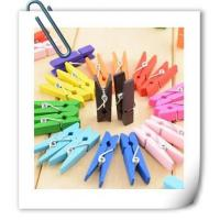 Buy cheap 50-100 Mini Multicolor Wooden Clothe Photo Paper Peg Clothespin Craft Clips from wholesalers
