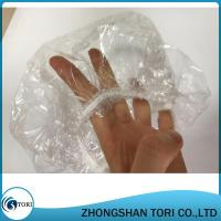Buy cheap Clear Disposable Plastic Shower Caps Large Elastic Bath Cap For Spa from wholesalers