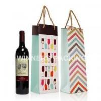 Buy cheap China Manufacturer Wholesale Cheap Price Custom Design Luxury Bottle Packaging Paper Wine Bag from wholesalers