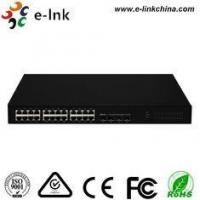 Buy cheap Gigabit Ethernetfiber Optic Network Switch With 4 SFP Port 10 / 100 / 1000Mbps from wholesalers