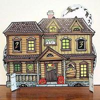 Buy cheap Halloween Countdown Advent Calendar - Haunted House with spinning wheels to change the date from wholesalers