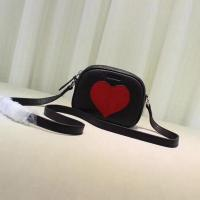China Gucci Childrens Leather Heart Messenger Bag 457223 Black on sale