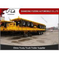 Buy cheap 20 Ft 40 Ft Container Flatbed Tractor Semi Trailer With Front Board from wholesalers