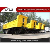 Buy cheap 35 CBM 60 Ton End Dump Semi Trailer , Steel Mechanical Dump Trailer from wholesalers