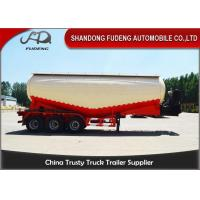 Buy cheap 60 Tons bulk cement tank semi trailer, FUWA Axle cement bulker trailer from wholesalers